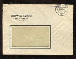 "All.Besetzung (Gebuehr Bezahlt) / 1946 / Brief L1-Stempel ""Gebuehr Bezahlt"" (B1a) Ex Mannheim (3410) - Gemeinschaftsausgaben"