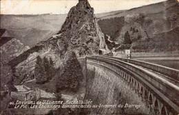 SAINT-ETIENNE- ROCHETAILLEE  (LOIRE) LE PIC - LES ESCALIERS DONNANT ACCES AU SOMMET DU BARRAGE - Saint Etienne