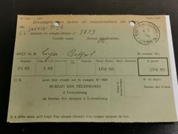 Décompte Taxe Téléphoniques 1934 - Brieven En Documenten