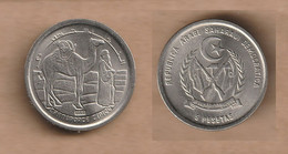 Saharawi  5 Pesetas 1992 Copper-nickel • 3.92 G • ⌀ 21.5 Mm KM# 16 - Other - Africa