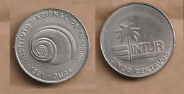 Cuba  5 Centavos (INTUR) 1981 Copper-nickel • 3.5 G • ⌀ 20 Mm KM# 411 - Cuba