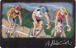 GERMANY(chip) - Cycling, Painting/Andrzej Dudzinski(A 07), Tirage 54000, 01/93, Mint - Sport