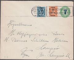 1926. DANMARK.  7 On 5 øre Envelope (print 20-H)  +7 ØRE On 1 ØRE + 7 ØRE On 4 ØRE TJ... (Michel 159+) - JF424974 - Brieven En Documenten