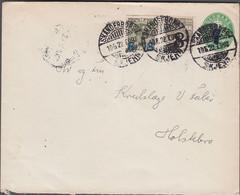 1922. DANMARK.  7 On 5 øre Envelope (without Print Number)  58 On 3 øre + 8 On 12 øre... (Michel 113+) - JF424976 - Brieven En Documenten