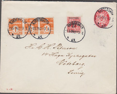 1924. DANMARK. 10 øre Envelope (print L-26) + 3 Ex 1 øre + 27 On 7 øre Cancelled KJØB... (Michel 86x) - JF424998 - Brieven En Documenten