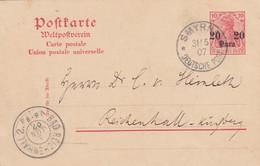 Deutsches Reich Turkei Postkarte 1907 - Ufficio: Turchia