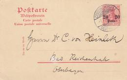 Deutsches Reich Turkei Postkarte 1908 - Ufficio: Turchia