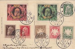 AD Bayern Postkarte 1912 Privat - Bavière
