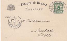 AD Bayern Postkarte 1897 Privat - Bavière