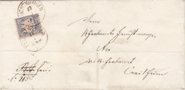 Bayern  Brief 1877 - Bavière