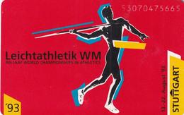 GERMANY(chip) - Leichtathletik/WM Stuttgart '93(A 25), Tirage 50000, 07/93, Mint - Sport