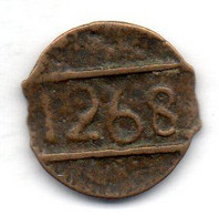 MAROC, 1 Falus, Bronze, Year AH1268, KM #C122 - Morocco