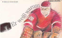 GERMANY(chip) - Eishockey, Sicherheits- Und Gesundheitsschutz(Hockey)(A 31), Tirage 63000, 09/93, Mint - Sport