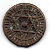MAROC, 2 Falus, Bronze, Year AH1288, KM #C163 - Morocco