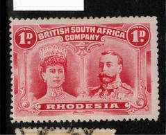 RHODESIA 1910 1d Bright Carmine SG 123 HM #BAD1 - Other