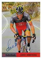 CARTE CYCLISME LANCE ARMSTRONG SIGNEE TEAM RADIOSHACK 2010 - Cycling