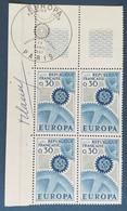 EUROPA CEPT 2 Blocs De 4 Timbres N° 1521et 1522 De 1967 Avec Cachet 1er Jour Et Signature Du Graveur Robert Cami - Altri