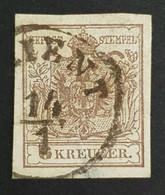 1850-1854 Coat Of Arms, 6 Kr, Austro-Hungarian Monarchy, Austria, Österreich, Autriche, Used - Gebruikt