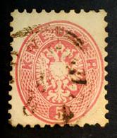 1863-1864 Coat Of Arms, 5 Kr, Austro-Hungarian Monarchy, Austria, Österreich, Autriche, Used - Gebruikt