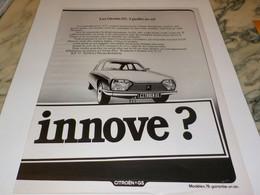 ANCIENNE PUBLICITE GARDES AU SOL GS  CITROEN 1978 - Cars