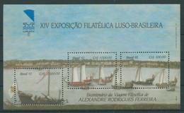 Brasilien 1992 Briefmarkenausstellung, Schiffe Block 90 Postfrisch (C22825) - Blocks & Sheetlets