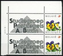 België 3180 - Duostamp - SPAB - Studiegroep André Buzin - Met Hoekdatum - Timbres Personnalisés
