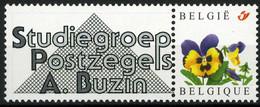 "België 3180 - Duostamp - SPAB - Studiegroep André Buzin - Met Variëteit ""rood Punt"" - Timbres Personnalisés"