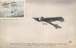 Les Aviateurs De La Grande Semaine D'Aviation De ROUEN 1910 - Un Vol De Hubert LATHAM - Très Bon état - Rouen
