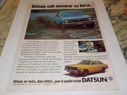 ANCIENNE   PUBLICITE UN EXTRA DANS L EFFORT DATSUN 1979 - Cars
