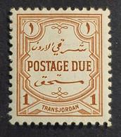 TransJordan 1944-1949 Postage Due, Jordan, MNH - Jordanië