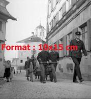 Reproduction Photographie Ancienne D'une Vue D'exercice De Pompiers à Trogen En Suisse En 1946 - Reproductions