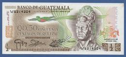 GUATEMALA - P.58c 1983(1) – 50 Centavos De Quetzal 06.01.1983 UNC- Serie W5314304 Pronter TDLR - Guatemala