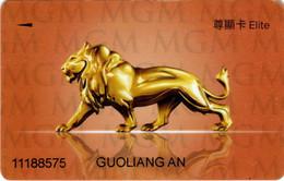 MGM Hotel & Casino Macau Macao : Elite - Casinokarten