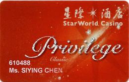 Star World Casino Macau Macao : Privilege - Casinokarten