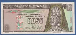 GUATEMALA - P.72a – 50 Centavos De Quetzal 04.01.1989 UNC Serie A-A - Guatemala