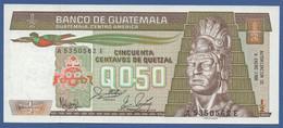 GUATEMALA - P.65 1988(2) – 50 Centavos De Quetzal 06.01.1988 UNC Serie A5350562E Printer G&D - Guatemala