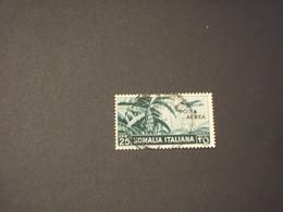SOMALIA - P.A. 1936 BANANETO 25 C. - TIMBRATO/USED - Somalia
