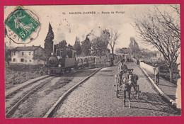 CONVOYEUR LIGNE ALGER TIZI OUZOU 1911 BELLE CARTE TRAIN MAISON CARREE ALGERIE - Spoorwegpost