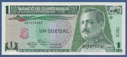 GUATEMALA - P.73a(3) – 1 Quetzal 03.01.1990 UNC Serie B - C Printer Canadian B.N. - Guatemala