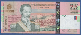 HAITI - P.273 – 25 Gourdes 2004 UNC Serie A / Bicentennial Of Independence Of Haiti - Haiti