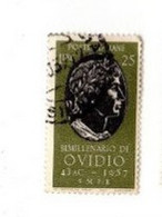 1957 Bimillenario Ovidio Lire 25 - 1946-60: Gebraucht