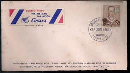 Cuba 1958 - Enveloppe Circulée Moderne - Covers & Documents