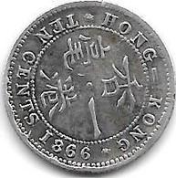 *hong Kong 10 Cents 1866  Km 6.3 - Hongkong