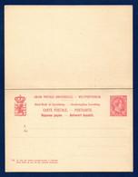 Luxembourg. Entier 10 C Carmin. Réponse Payée  P56. 1895 - Postwaardestukken