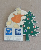 2004 Athens Olympic Games - Alpha Bank Greek Sponsor, Christmas Tree With Mascot Pin, Wrong Colors Or Sample?? - Jeux Olympiques