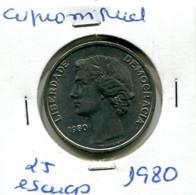 Portugal 25 Esc. (Cu/Ni), 1980 MBC - Other - Europe