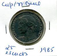 Portugal 25 Esc. (Cu/Ni), 1985 MBC - Other - Europe