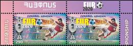 "Armenia 2021 ""Sport. European Football Championship ""Euro-2020"" 2v Zd Quality:100% - Armenia"
