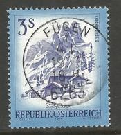 AUSTRIA. 3s BUILDINGS USED FUGEN POSTMARK - 1971-80 Usados