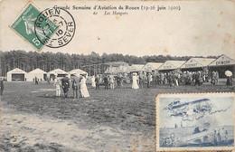 Grande Semaine D'Aviation De ROUEN ( Juin 1910 ) - Les Hangars - état - Rouen